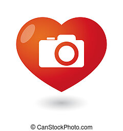 Heart with a photo camera icon