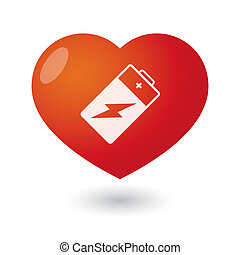 Heart with a battery