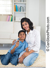 indian mother and son bonding