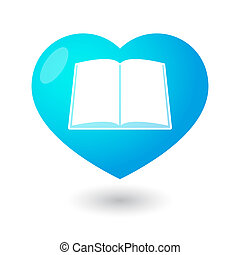 Heart with a book