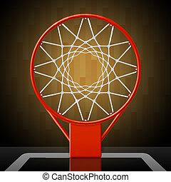 Basketball hoop, top view