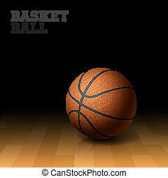 Basketball on a floor