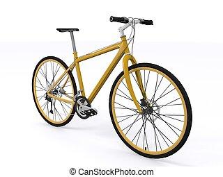 yellow bicycle - isolated yellow bicycle