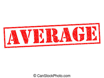 AVERAGE red Rubber Stamp over a white background.