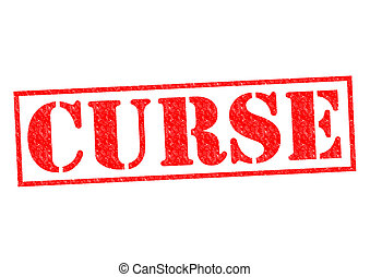 CURSE red Rubber Stamp over a white background