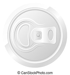 closed can of beer vector illustration