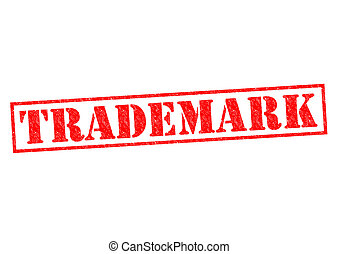 TRADEMARK red Rubber Stamp over a white background.