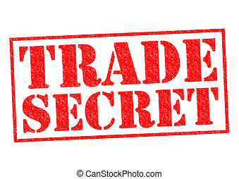 TRADE SECRET red Rubber Stamp over a white background.