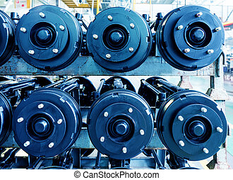 Axle - Car chassis with engine:Axle