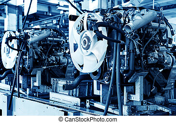 Automotive engine - New car engine, finished inside the...