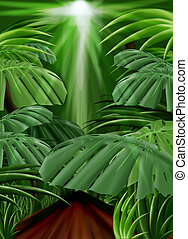 Jungle Background (Front leaf path included) - Jungle...