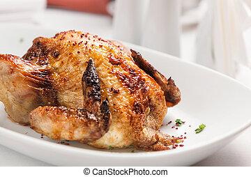 Fried chicken. - Baked chicken.