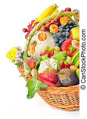 harvest basket - basket of fruit and vegetables