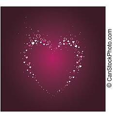 loving heart pattern