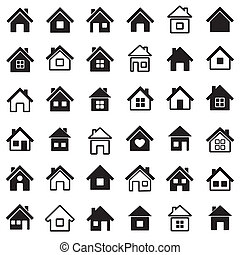 Home icons - Houses icons set.