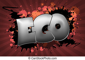Ego Grunge - The word EGO as a grungy colorfully painting