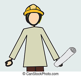Professions design over white background, vector...