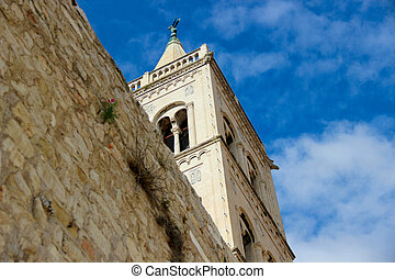 The tower at the church Donat in Zadar Croatia