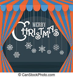 Christmas greeting card. Design elements