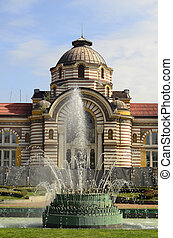 Bulgaria, Sofia - Sofia, Bulgaria - fountain and park in...