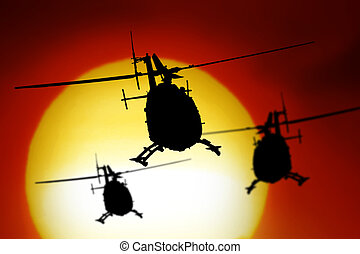 Helicopter - holicopter with sun