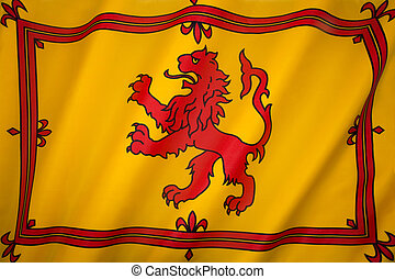Scotland - Lion Rampant Flag - The Royal Standard of...