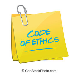 code of ethics memo post illustration design