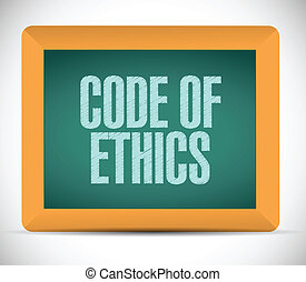 code of ethics message illustration