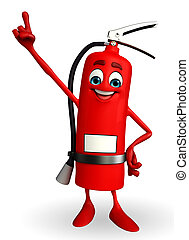 Fire Extinguisher character is pointing - Cartoon Character...