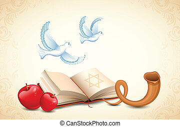 Happy Yom Kippur - illustration of Happy Yom Kippur...