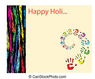 Holi The Festival Of Colours Vector Art