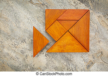 misfit concept with tangram - misfit concept - traingular...