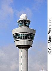 lotnisko, panowanie, wieża