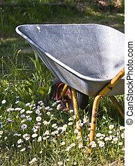 gardener�s, preguiçoso, carrinho de mão