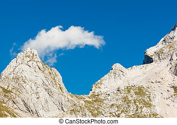 Mount Mangart, Slovenia - A beautiful cloud on the Mount...
