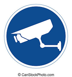CCTV surveillance, sign, vector