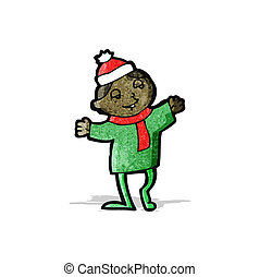 cartoon christmas imp