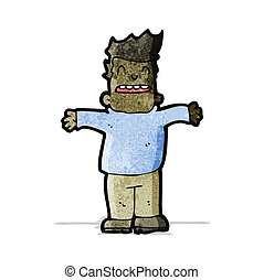 cartoon man with open arms