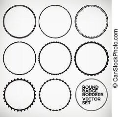 Round Element - Vector Round Border Design Element