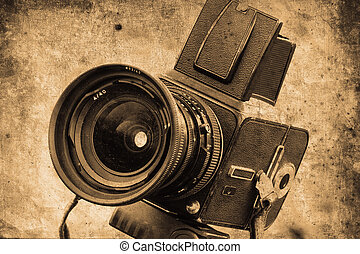 photo camera - old photo camera in retro design look