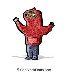 cartoon boy in hooded sweatshirt