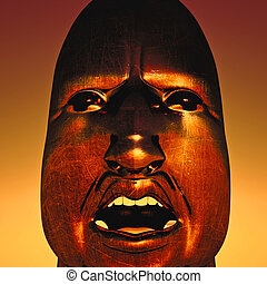 African dictator - portrait of African dictator on sky...