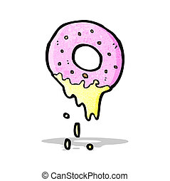 cartoon pink doughnut