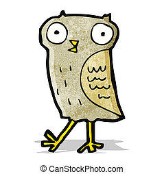 funny little owl cartoon