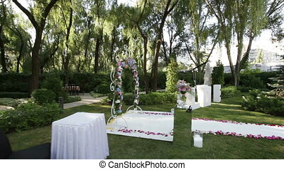 Love letter and table ceremony - Against background of large...