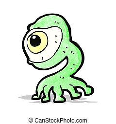 cartoon weird monster