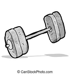 cartoon barbell