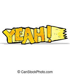 yeah cartoon symbol