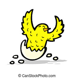 cartoon flapping bird
