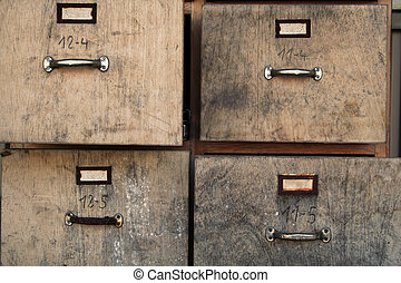 old filing cabinet - old business office used filing cabinet